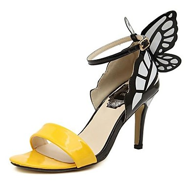 38559467790 Γυναικεία παπούτσια - Πέδιλα - Φόρεμα / Πάρτι & Βραδινή Έξοδος - Τακούνι  Στιλέτο - Με Τακούνι / Peep Toe - PVC - Κίτρινο / Πράσινο / Ασημί 2749245  2019 – ...