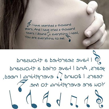 1 pcs tillfälliga tatueringar brachium / handled / ankel Vattenöverföringsklistermärke Tatueringsklistermärken / Tattoo Sticker