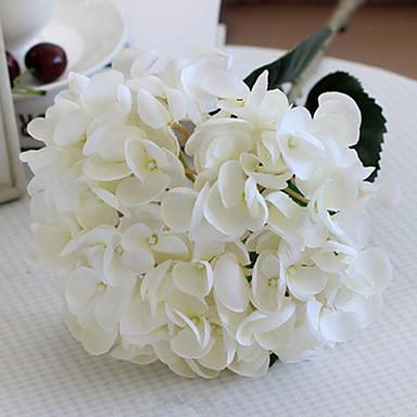 Syrenka Ponadgabarytowych Białe Hortensje Sztuczne Kwiaty Zestaw 2