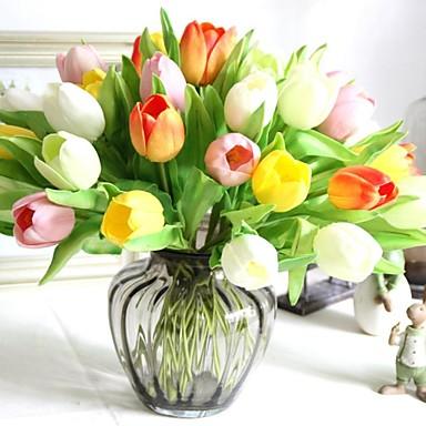 7ks Umely Zivy Skutecny Dotek Tulipany Ozdobneho Kytky Vecirek