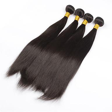 povoljno Ekstenzije od ljudske kose-PANSY potka Proširenja ljudske kose Ravan kroj Ljudska kosa Brazilska kosa 26 inch Žene Prirodna crna / 8A