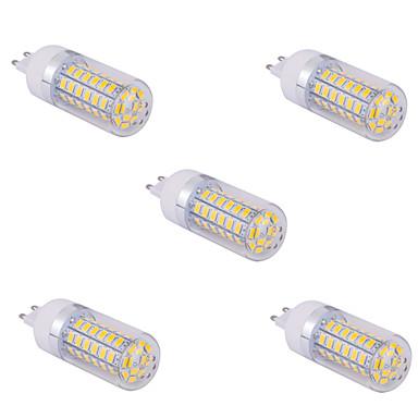 YWXLIGHT® 5pcs 10 W LED-lampa 1500 lm G9 T 60 LED-pärlor SMD 5730 Varmvit Kallvit 220 V 110 V / 5 st