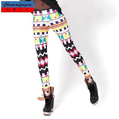 cmfc®women modefärgglatt geometriska mönster tryckt Bodycon byxor sexiga  skinny leggings all-match sport byxor 2056071 2019 –  25.18 20c93718c9f09