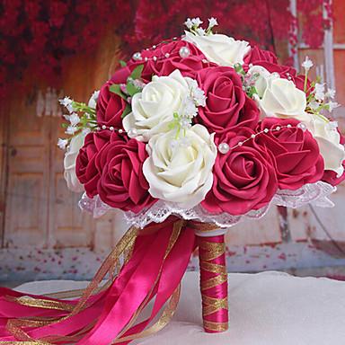 Ein Bouquet Von 30 Pe Simulation Rosen Wedding Sind Blumenstrauss