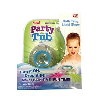 Barnen bad roligt LED-ljus leksak fest i badkaret gör bad tid kul färgbyte