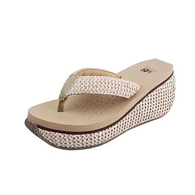 Γυναικεία παπούτσια - Παντόφλες - Καθημερινά - Ενιαίο Τακούνι - Σαγιονάρες  - Δερματίνη - Μπεζ 2762337 2019 –  39.99 3bcec984c48