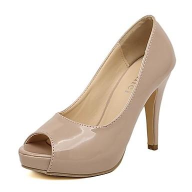36f5724ae43 Γυναικεία παπούτσια - Γόβες - Φόρεμα - Τακούνι Στιλέτο - Peep Toe -  Δερματίνη - Μαύρο / Μπεζ 2806615 2019 – $24.99