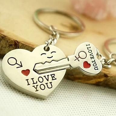 Nyckelring Älskare Kärlek Moderingar Smycken Silver Till Dagliga kläder