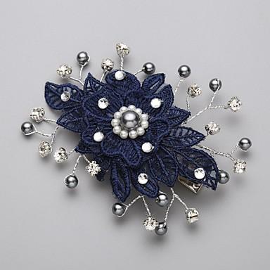 Oäkta pärla / Kubisk Zirkoniumoxid / Spets Hair Combs / Blommor med 1 Bröllop / Speciellt Tillfälle Hårbonad / Legering