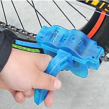 billige Cykeltilbehør-Kæderenserbørste Værktøj til kæderensning Nem vask Roterende rensning 360° Roterende børster Praktisk Til Vejcykel Mountain Bike Cykling Plast ABS Blå 1 pcs