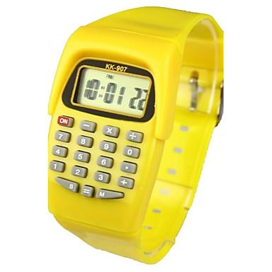 povoljno Ženski satovi-Dječji Modni sat digitalni sat Japanski Kvarc Šiljci za meso Guma žuta 30 m Kalendar Casual sat Šiljci za meso dame Prženje - Bijela Dvije godine Baterija Život