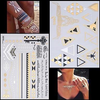 199 2 Pcs Nietoksyczne Hawajski Dolna Część Pleców Tatuaże Tymczasowe Seria Zwierzęca Seria Biżuterii Hawajskie Sztuka Na Ciele