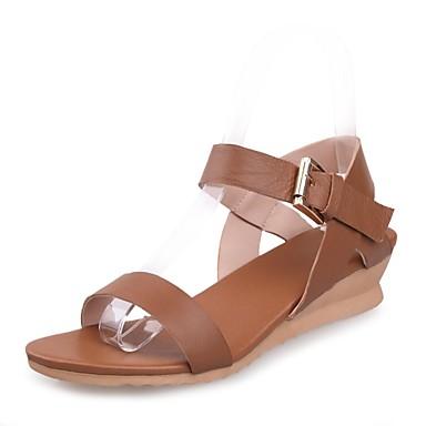 Zapatos marrones Tacón de cuña oficinas para mujer Barato Fake pTM81b
