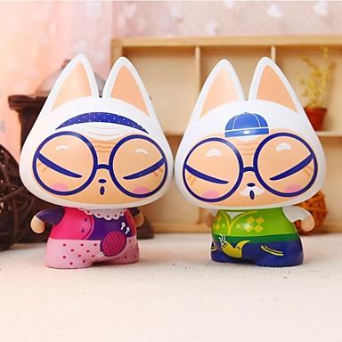 zhuaimao actionfigur leksak för kreativa gåva heminredning bil prydnad bil styling födelsedagspresent till flickvän (2st)