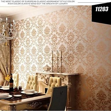Moderne Tapete Blumen Reflektieren Leicht Getönt Gelb Damaskus Design  Wandverkleidung Vliespapier Wandkunst 2865600 2018 U2013 $49.99