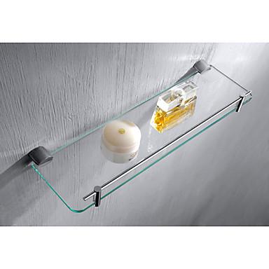 hylde badeværelse badeværelse hylder, moderne kromfinish hylde materiale glas solid  hylde badeværelse