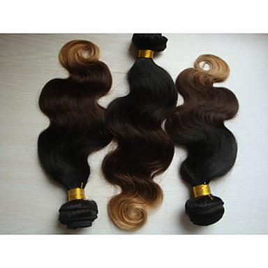 preiswerte 3-Ton Haarverlängerungen-- für Damen - Große Wellen Echthaar