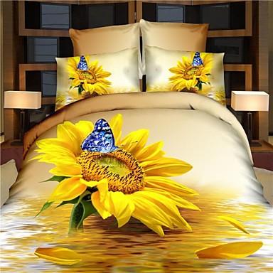 100% pamut ágynemű queen king size 4db kecses sárga paplan Vigasztaló huzat  lepedő ágynemű 2836450 2019 –  86.09 6d1df5c8b6