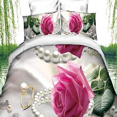 Lenzuola Matrimoniali In 3d.54 99 3d Comforter Copre Matrimoniale 4pcs Coperte Lenzuola Copripiumino Lenzuola In Cotone Set Tessili Per La Casa