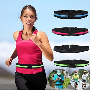cheap Running Bags-Running Belt Fanny Pack Waist Bag / Waist pack 1 L for Marathon Camping / Hiking Hunting Fishing Sports Bag Multifunctional Portable Rain Waterproof Polyester Canvas Terylene Running Bag / iPhone X