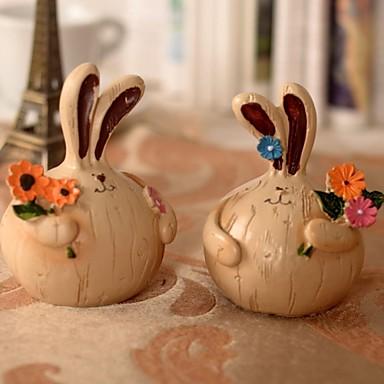 2 st vitlök fett kaniner harts målning inredningsartiklar