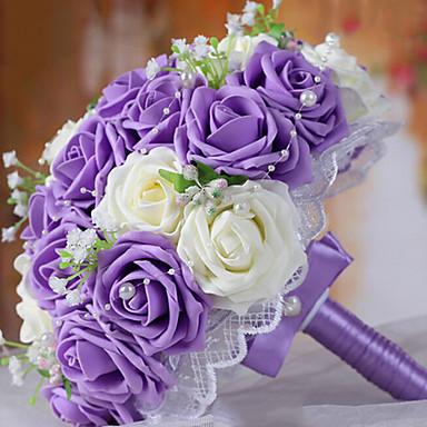 A Bouquet of 30 PE Simulation Roses Wedding Bouquet Wedding Bride ...