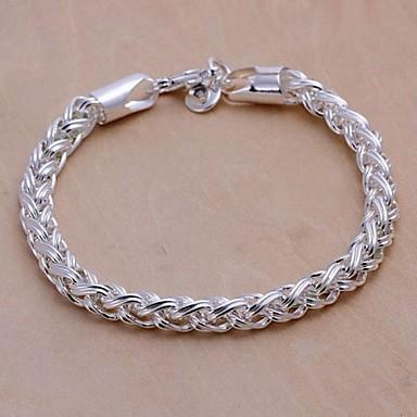 Herr Kedje & Länk Armband Blomma damer Försilvrad Armband Smycken Silver Till Julklappar Bröllop Party Dagligen Casual