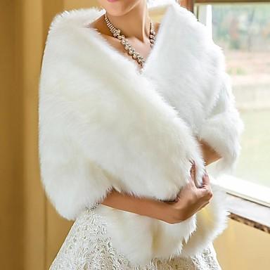 Kožešinová bolerka   Svatební zábaly Šály Umělá kožešina Bílá Svatba    Párty a večerní akce 2774559 2019 –  34.99 1aa6c16622