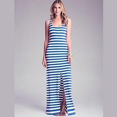 mouwloze lange jurk