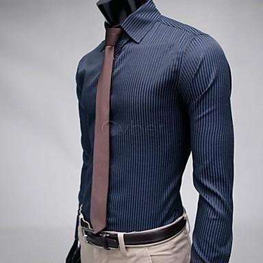 proužek stylové ležérní oblečení Slim Fit dlouhý rukáv pánské košile černá  modrá m   L   XL   XXL 38 3402491 2019 –  27.99 5bb87a3973
