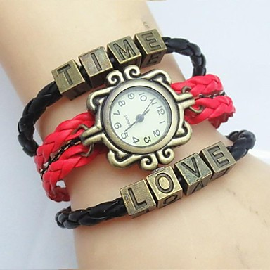 97492934a67 módní handmade dámské času hodinky love kůže vazba kapela 2792131 2019 –   7.99