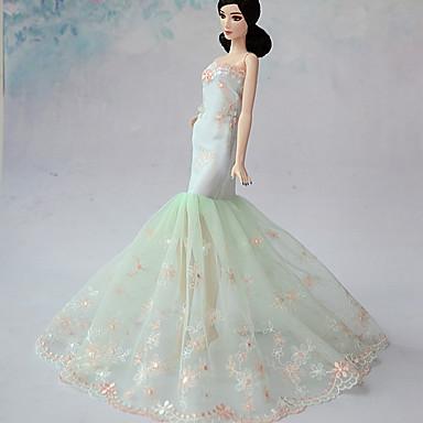 Wedding Dresses For Barbie Doll Light Green Dresses For Girl\'s Doll ...