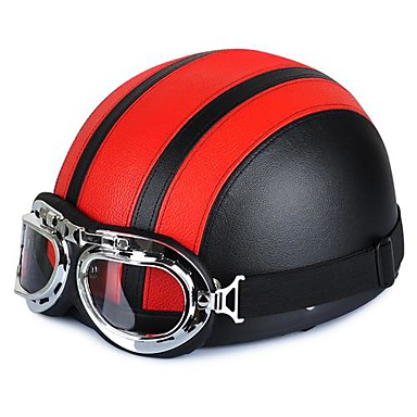 54-60cm bőr motoros szemüveg vintage stílusú Garman fele sisakok  motorkerékpár motoros cruiser robogó touring sisak 2761733 2019 –  16.99 1bedea339a