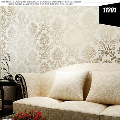 Moderne Tapete Blumen Reflektieren Hellen Farbton Beige Damast Design  Wandverkleidung Vliespapier Wandkunst 2865533 2018 U2013 $49.99