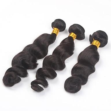 povoljno Ekstenzije od ljudske kose-PANSY potka Proširenja ljudske kose Valovita kosa Ljudska kosa Ljudske kose plete Brazilska kosa Priroda Crna Žene Prirodna crna / 8A
