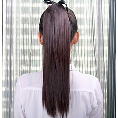 Syntetiskt hår Hårstycke HÅRFÖRLÄNGNING Rak