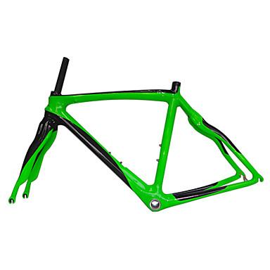 Vägram Full Karbon Cykel Ram # Glansig 3K cm tum