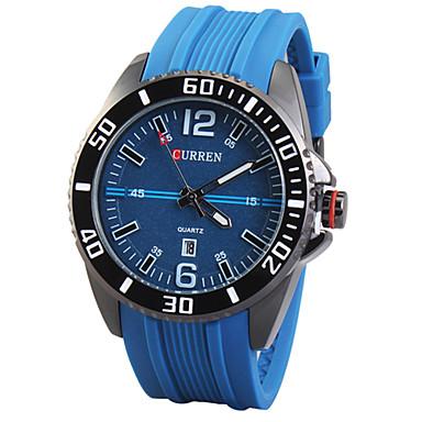 5a8309c1d92 curren 2015 καυτή πώληση αθλητικών μάρκα ρολογιών πολυτελείας άνδρες  δερμάτινο λουράκι ρολόι μόδας του χαλαζία ρολόγια χειρός στρατιωτικό  3150963 2019 – ...