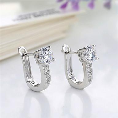 Women S Hoop Earrings Party Casual Birthstones Diamond Silver Plated Jewelry Costume 3140957 2018 5 99
