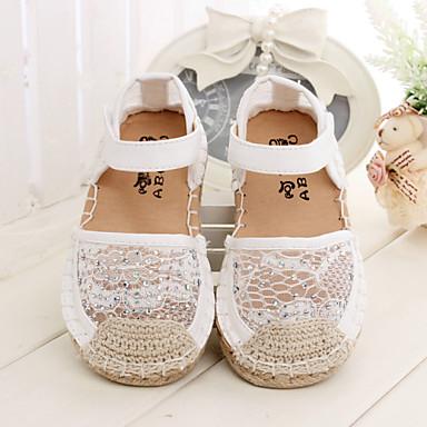 d55a498e Zapatos de bebé Casual Tela de Encaje Sandalias Rosado/Blanco 3104814 2019  – $22.99