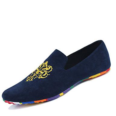 945b9e5d748 Hombre Tela Primavera   Verano   Otoño Confort Zapatos de taco bajo y  Slip-On Paseo Negro   Rojo   Azul 3147948 2019 –  44.99