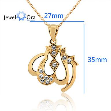 povoljno Modne ogrlice-Vedro Kubični Zirconia Zlatno Zlato Ogrlice Jewelry Za Party Special Occasion Angažman Dar Kauzalni