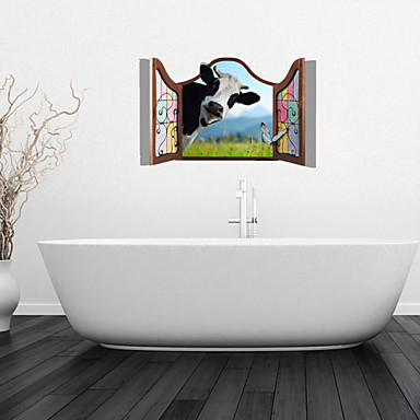 Wall Stickers Decals Dairy Cow Bathroom Decor Mural Pvc 3037669 2018 16 99