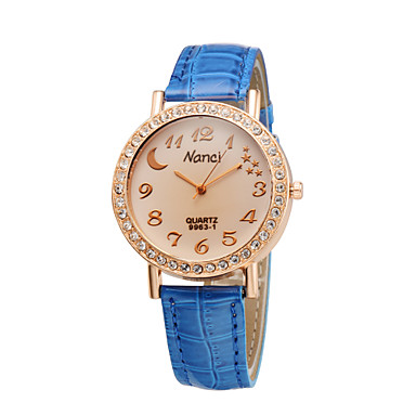 senhoras moda lua criativo cristal estrela diamante strass relógios mulheres  estudantes casual vestido de quartzo relógio de pulso de 3130828 2019 por   6.99 37b3ec32a5