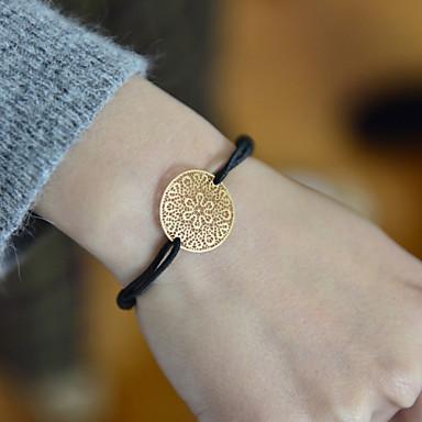 levne Dámské šperky-Dámské Korálkový náramek dámy Látka Náramek šperky Zlatá Pro Vánoční dárky Svatební Párty Denní Ležérní Sport
