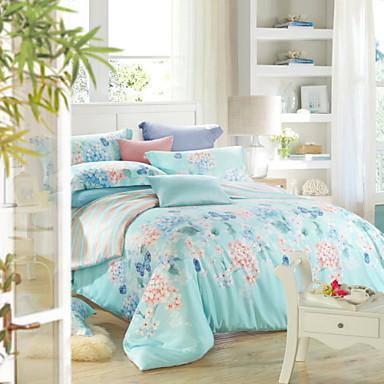 hálószoba készletek queen king size ágynemű Tencel elegáns virág virágos  ágynemű paplan terjed ágy íves párnahuzat 3080842 2019 –  122.84 ec13899edb