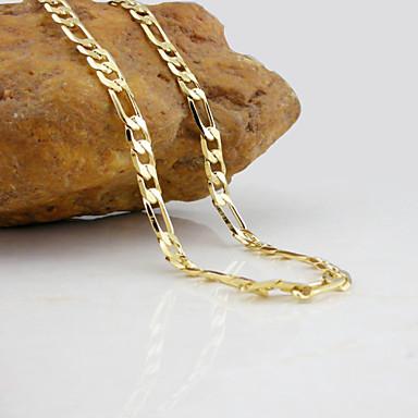 levne Pánské šperky-Řetízky Figaro Řetěz Námořní řetěz Módní Pozlaceno 18k Pozlacené Žluté zlato Zlatá Stříbrná Náhrdelníky Šperky Pro Svatební Párty Denní Ležérní