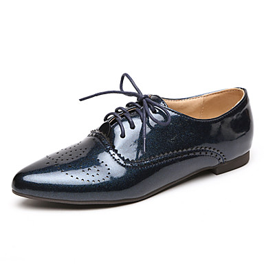 dfc8adedd1 Γυναικεία Παπούτσια Λουστρίν Άνοιξη   Καλοκαίρι   Φθινόπωρο Χαμηλό τακούνι  Κορδόνια Λευκό   Μαύρο   Μπλε 4247927 2019 –  11.50