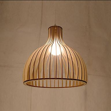 Ljuskronor Fluorescerande Krom Metall Trä / Bambu stearinljus stil 220-240V Glödlampa inte inkluderad / E26 / E27