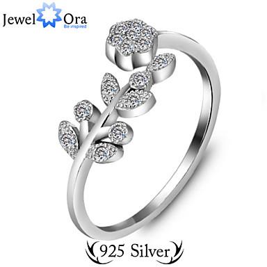 Justerbar ring tumring Silver Sterlingsilver Vintage Fest Kontor Smycken Gulligt